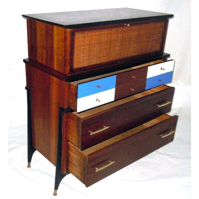 Mid-Century Modern Walnut & Painted Dresser - Image 5 of 8
