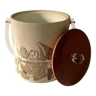 Vintage Mid Century Modern Seashell Ice Bucket