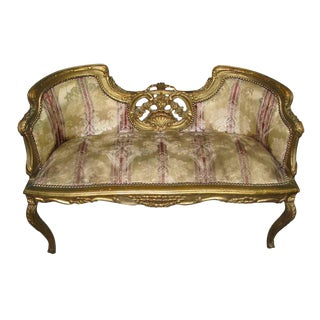 19th C. French Frame Settee For Sale