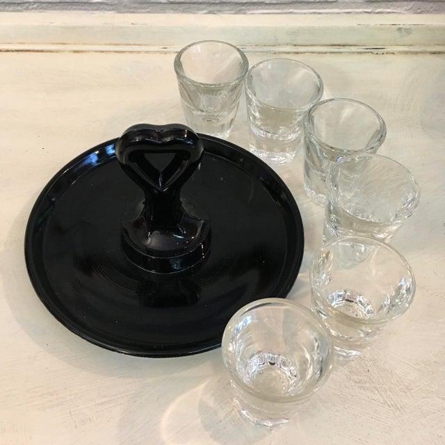 Vintage Shot Glass Set With Carrier - Image 4 of 4