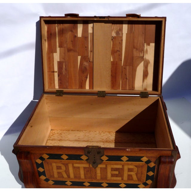 Phenomenal Parquetry & Brass Blanket or Hope Chest - Image 9 of 10