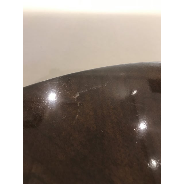 Modern Kravet Metal and Wood Round Side Table For Sale - Image 10 of 11