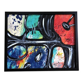 Untitled Original Framed Acrylic Abstract Painting For Sale
