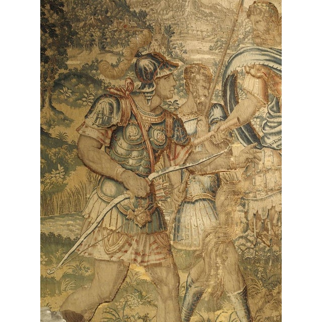17th Century Large 17th Century Flanders Tapestry Depicting a Roman Scene For Sale - Image 5 of 13