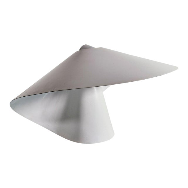 White Enamelled Metal Table Lamp by Raoul Raba For Sale