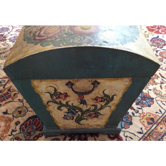 Dome-Top Hand-Painted Blanket Chest - Image 7 of 9