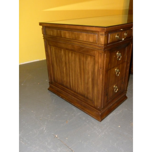 Leather Top Mahogany Desk by Sligh Furniture For Sale - Image 5 of 11