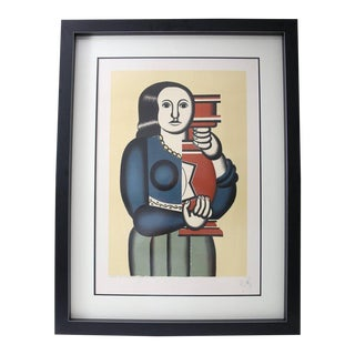 "Fernand Leger's ""Woman Holding a Vase"", Lithograph by Jacques Villon For Sale"