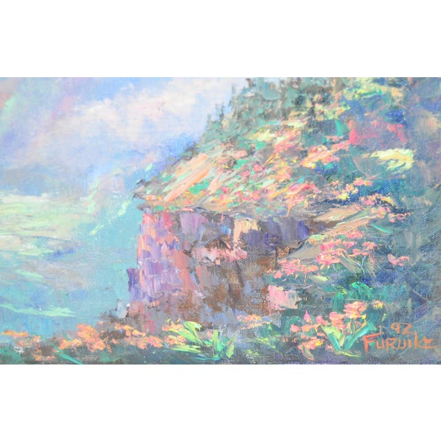Ed Furuike Oil Painting - Waimea Canyon, Kauai Remarkable Hawaiian landscape by noted Hawaiian artist Ed Furuike. Titled...