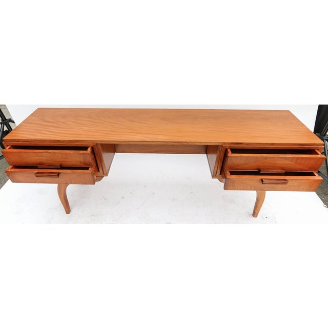Scapinelli 1960s Brazilian Caviuna Console Table Desk For Sale In Los Angeles - Image 6 of 9