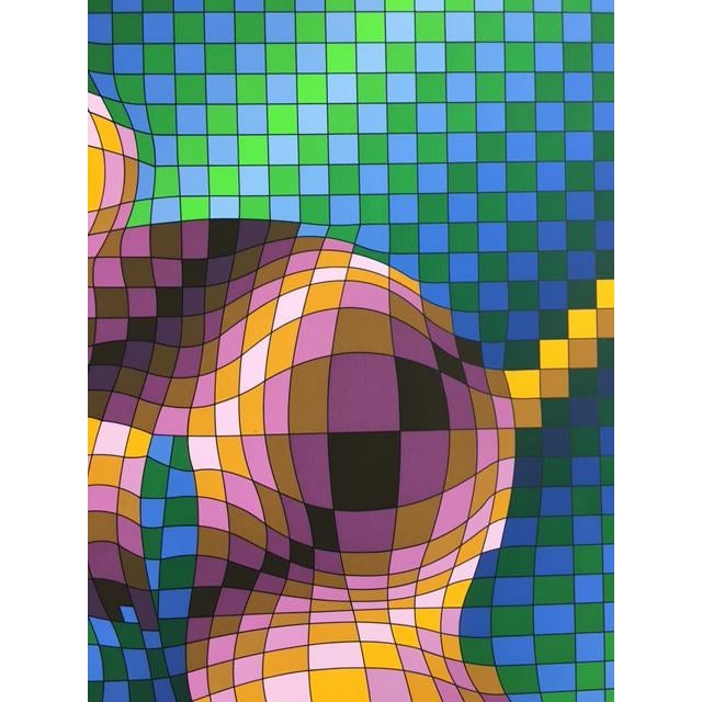 """Victor Vasarely """"Harlequin Sportif"""" Signed Silkscreen Seriograph For Sale In New York - Image 6 of 7"""