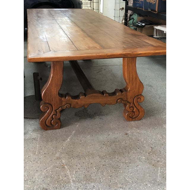 Spanish Designer Reclaimed Wood XL Dining Table For Sale - Image 11 of 13
