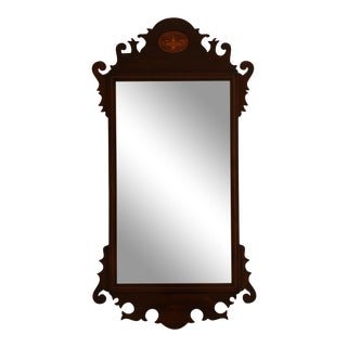 Federal Style Vintage Inlaid Mahogany Mirror For Sale