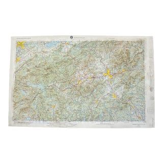Vintage Knoxville, Tennessee Raised Relief Map