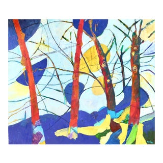 """Contemporary """"Abstract Forest"""" Oil Painting by Martha Holden For Sale"""