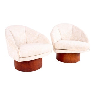 Mid Century Adrian Pearsall Barrel Lounge Chairs - Pair For Sale