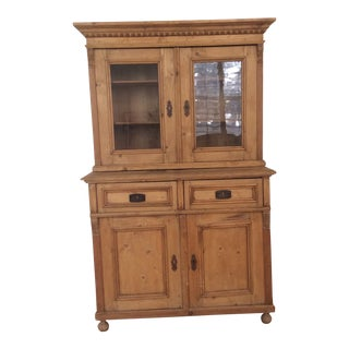 Early 20th Century Antique French Provincial Buffet/Display Cabinet For Sale