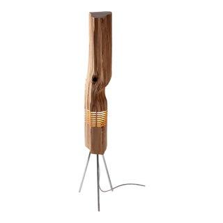 Split Grain Cedar Wood Light Sculpture For Sale