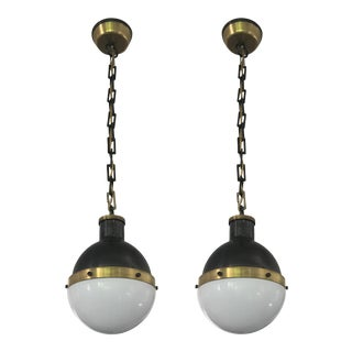 Visual Comfort Hicks Pendant Lights - a Pair For Sale