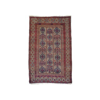 Early 20th Century Baluch Rug- 3′6″ × 5′5″ For Sale