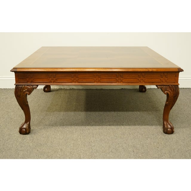 20th Centurytraditional Style Mahogany 40 Square Coffee Table