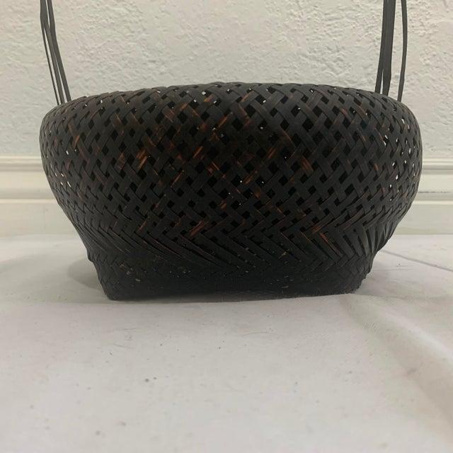 Antique Japanese Woven Ikebana Basket For Sale In Denver - Image 6 of 12