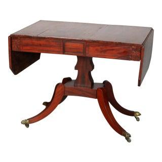 Antique English George III Mahogany Drop-Leaf Table, circa 1800 For Sale