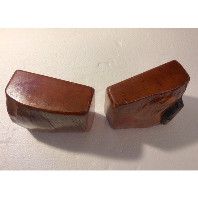 Wood Live Edge Organic Wood Bookends - a Pair For Sale - Image 7 of 13