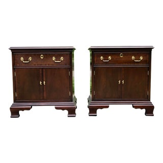 Solid Mahogany Nightstands by Councill- a Pair For Sale