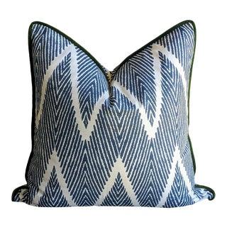 Lacefield Bali Blue and White Pillow Cover For Sale