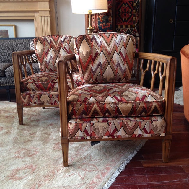 Vintage Barrel Back Club Chairs - A Pair - Image 11 of 11