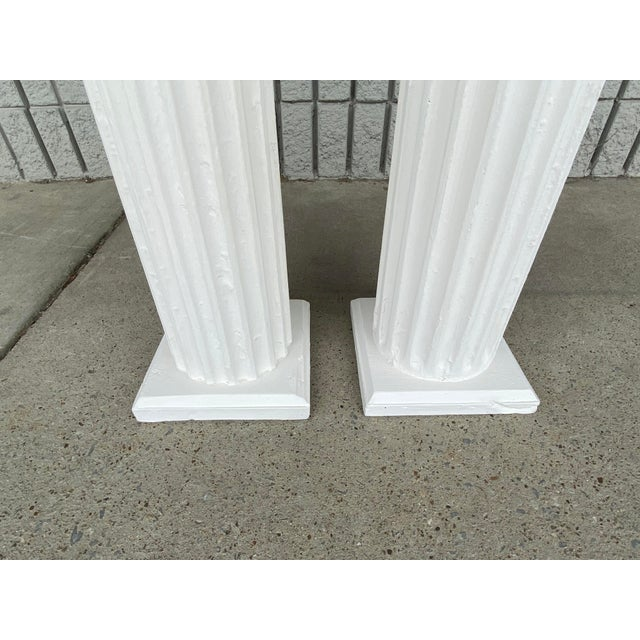 Traditional Antique Columns Re-Purposed as Accent Tables - a Pair For Sale - Image 3 of 6