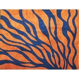 Image of 1970s Blue and Orange Edward Fields Wool Rug For Sale