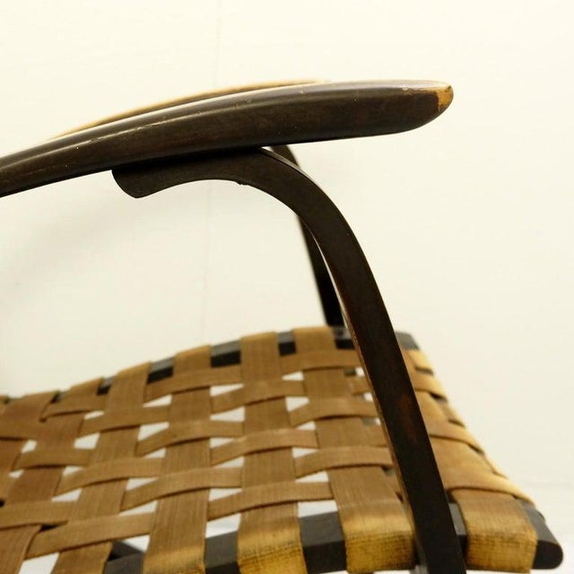 1930s Pair of Bentwood Armchairs by Jan Vanek for Up Závody, 1930s For Sale - Image 5 of 9