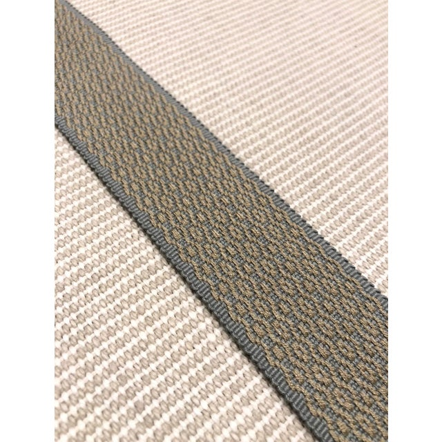 """Modern Transitional Gray and Gold Dot Motif 1.5"""" Band Fabric Trim - 50 Yards For Sale - Image 3 of 4"""