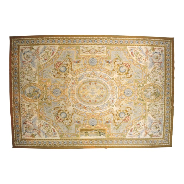 Aubusson French Wool Rug - 9′9″ × 14′2″ - Image 1 of 11