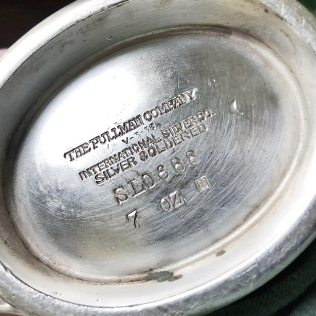 1930s 1933 Silver Plated Sugar Bowl From Pullman Company For Sale - Image 5 of 6