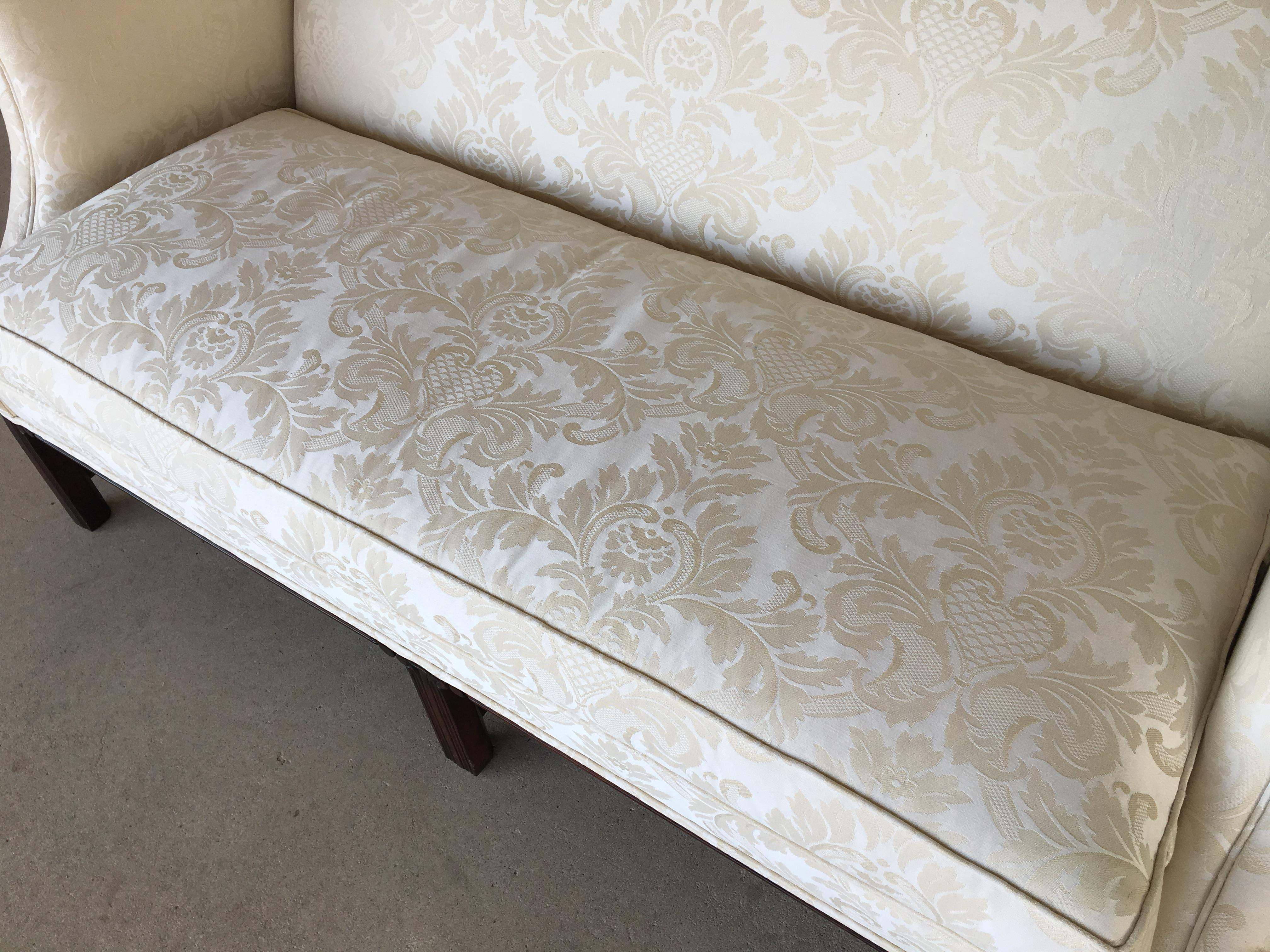 Hickory Chair Chippendale Style Formal Camel Back Sofa   Image 5 Of 12