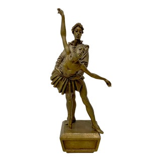 "Mid 20th C. Bruno Lucchesi ""Ballet Dancers"" Original Bronze Sculpture For Sale"