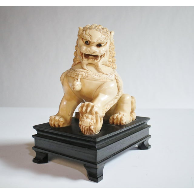 Mid-Century Chinese Guardian Foo Lion Sculpture - Image 4 of 8