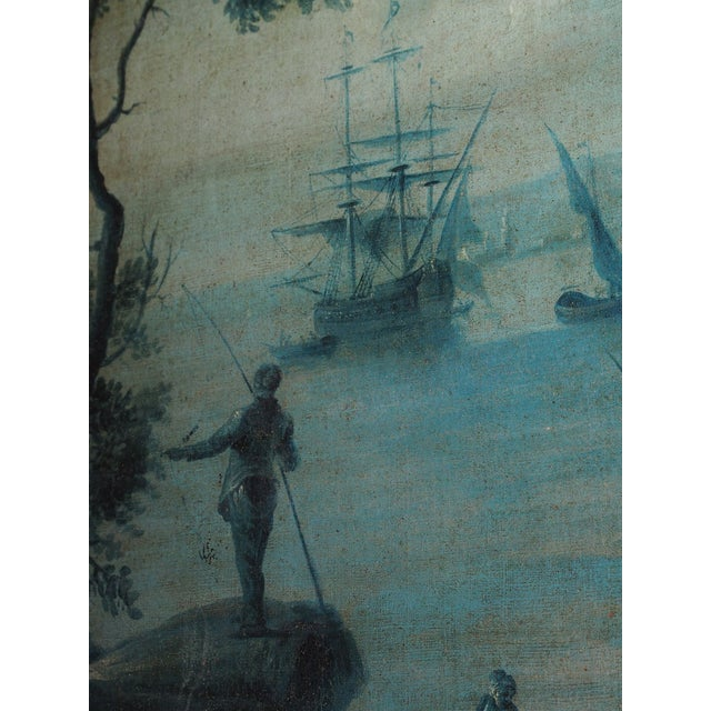 18th Century French Trumeau with Grisaille Painting - Image 4 of 8