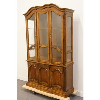 20th Century French Country Stanley Furniture Fleur De Bois China Cabinet Preview
