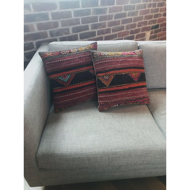 1970s Vintage Turkish Kilim Pillows - Set of 3 For Sale - Image 5 of 9