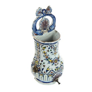 19th Century Antique Wall Pocket Enamel Fountain For Sale
