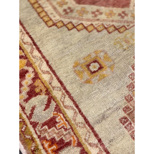 Textile Vintage Oushak Runner From Turkey - 3′2″ × 10′7″ For Sale - Image 7 of 13