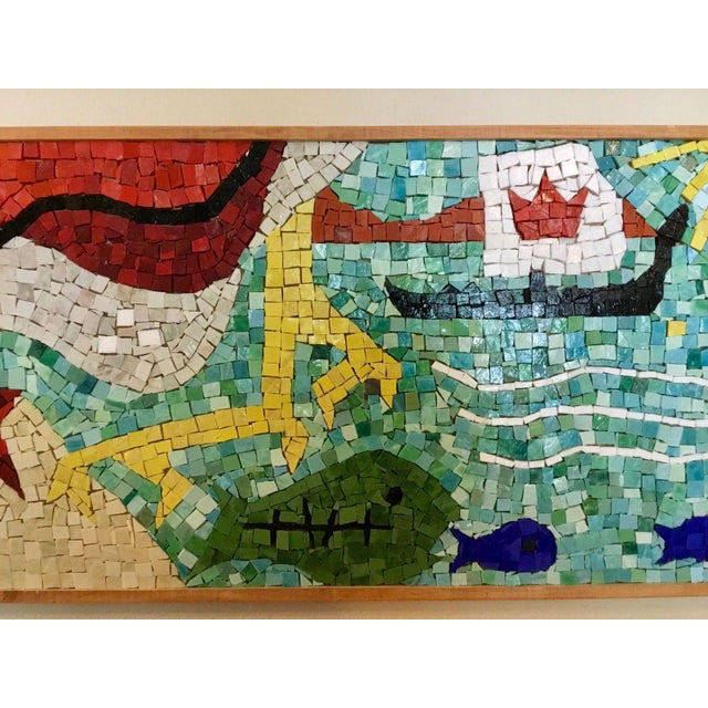 Glass Easter Island Mosaic For Sale - Image 7 of 8