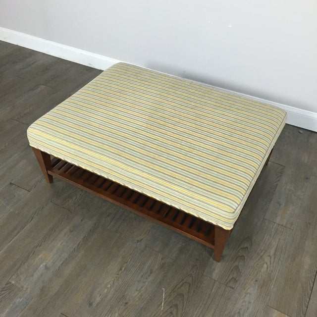 Upholstered Ottoman Coffee Table by Baker - Image 3 of 9