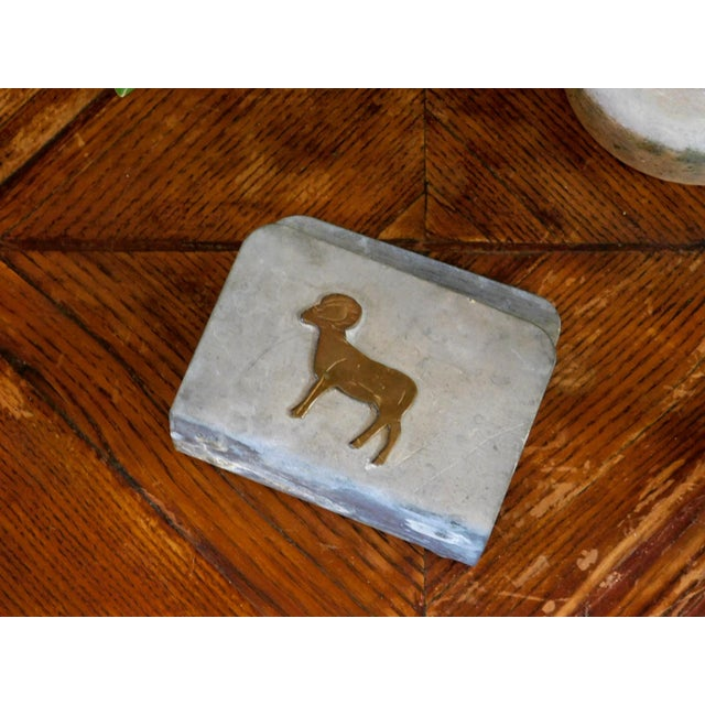 1980s Rustic Farmhouse Napkin Holder For Sale - Image 5 of 7