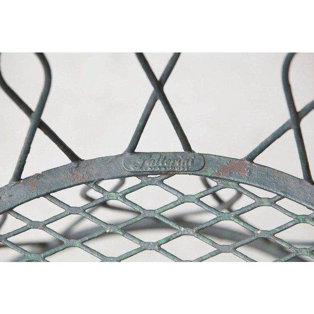 Salterini Set of Four Salterinini Round Wrought Iron Barrel Back Patio or Garden Chairs For Sale - Image 4 of 9