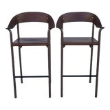 Image of 1980s Vintage Italian Bar Stools- a Pair For Sale